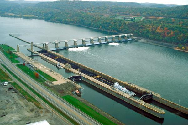 Corps Dam on Ohio River