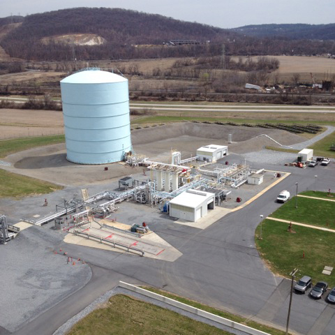 LNG Peak Shaving Plant near Reading, PA